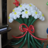 Cvety iz sharov.