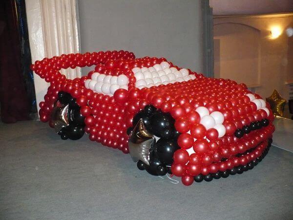 Машины из воздушных шаров своими руками