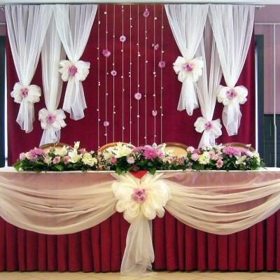 Oformlenie svadebnogo stola zheniha i nevesty ( prezidiuma ) (5)